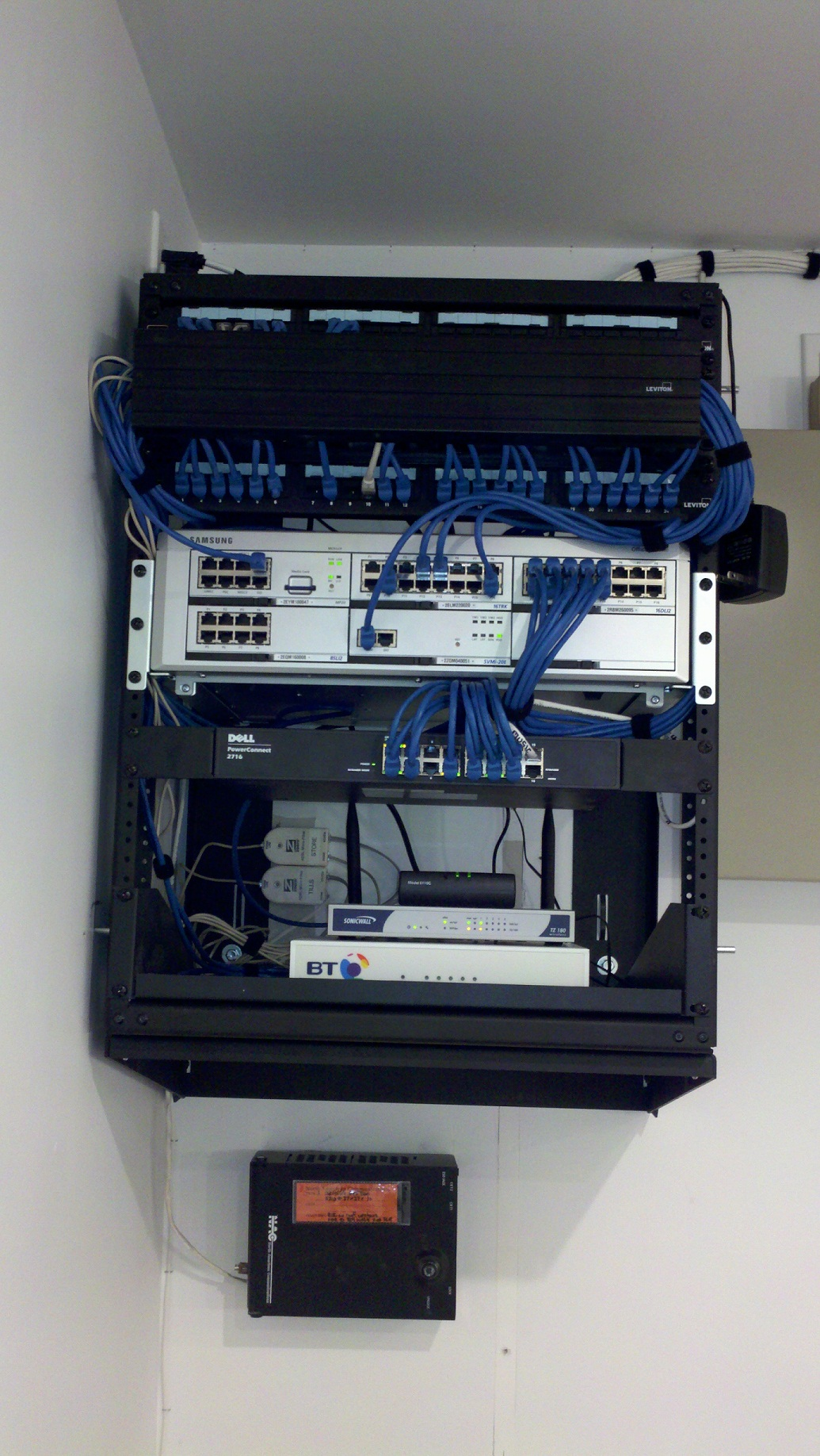 Wall Mount Rack. - Racks Phonetek